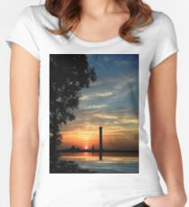 Last moments before sunset Women's Fitted Scoop T-Shirt