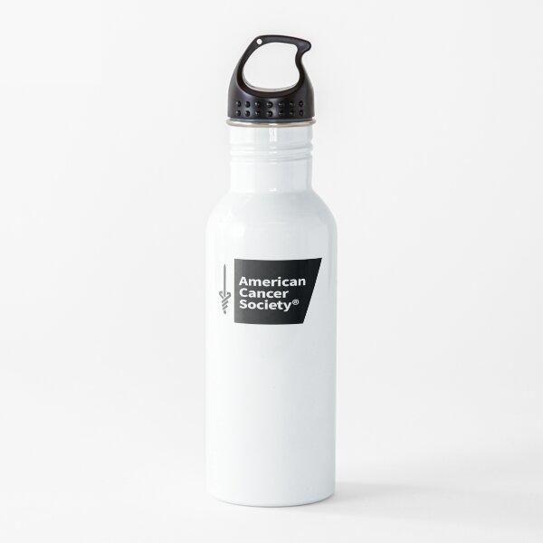 Logotipo de la American Cancer Society Botella de agua