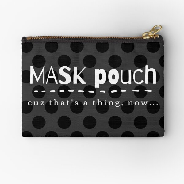 Mask Pouch - Black Zipper Pouch