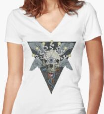 ajna awakening - muted Women's Fitted V-Neck T-Shirt