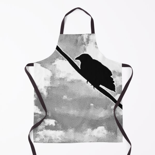 Crow On A Wire Apron
