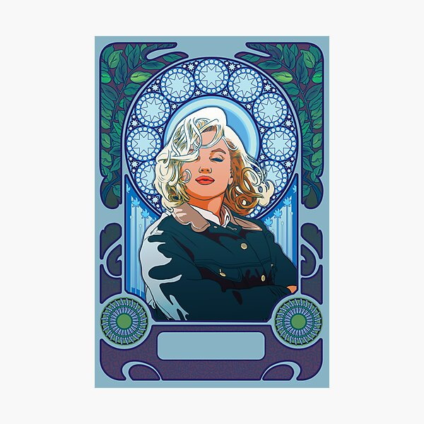 Marilyn Monroe in Mucha Photographic Print