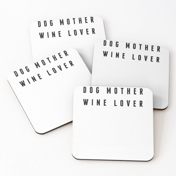 DOG MOM AND WINE LOVER Coasters (Set of 4)