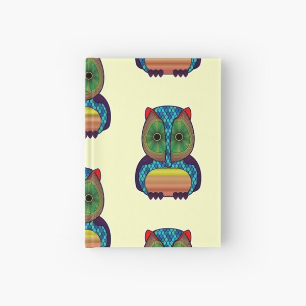 Colorful Owl Hardcover Journal