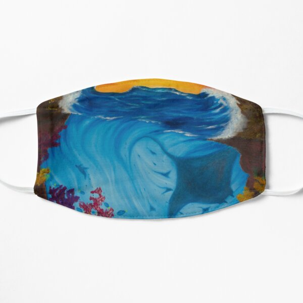 Beneath the waves painting Mask