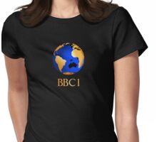 BBC computer originated world (globe) COW logo Womens Fitted T-Shirt