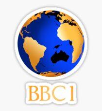 BBC computer originated world (globe) COW logo Sticker