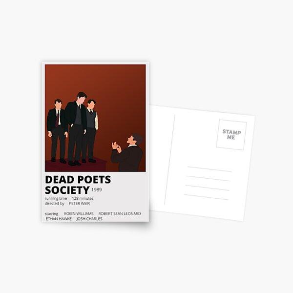 dead poets society minimalist sticker Postcard