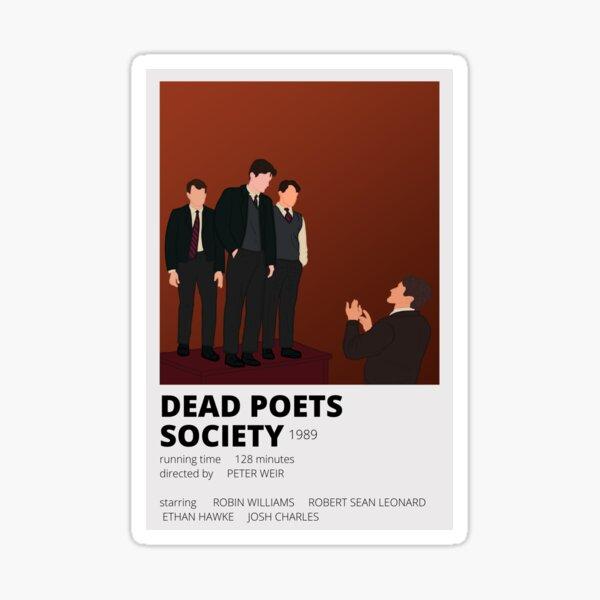 autocollant minimaliste de la société des poètes morts Sticker