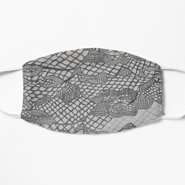 black lace drawing Flat Mask