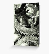Gears Greeting Card