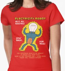 Electricity Robot -- he's all electric -- color T-Shirt