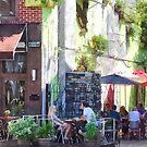 Outdoor Cafe Philadelphia PA by Susan Savad