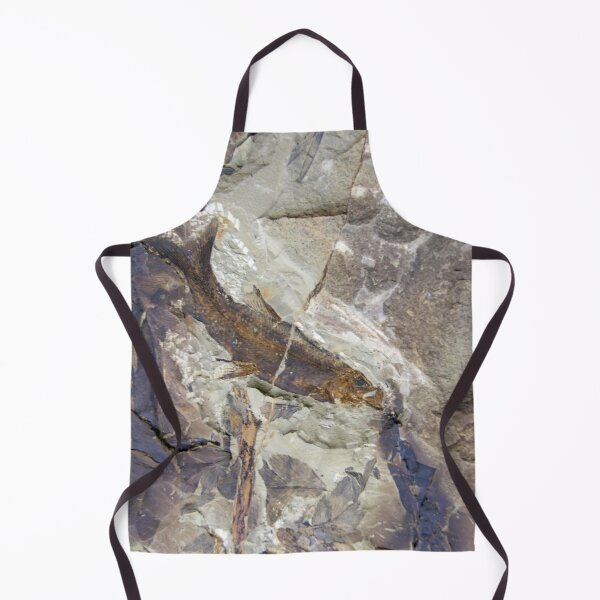 Fish Fossil by Avril Thomas Apron