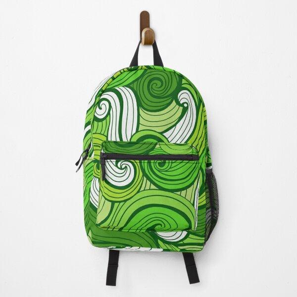 Green Doodle Waves  Backpack