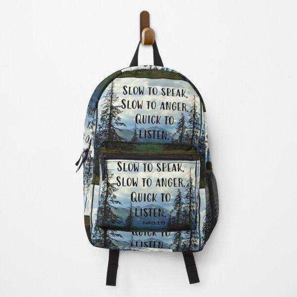 James 1:19  Backpack