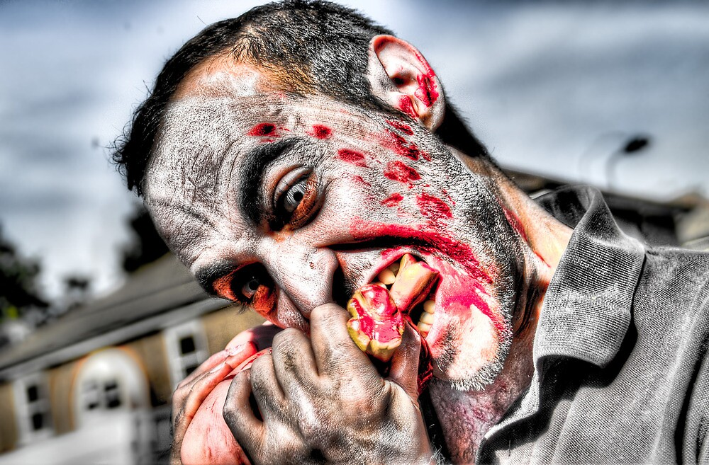 Quot Zombie Eating Foot Quot By Noam Kostucki Redbubble
