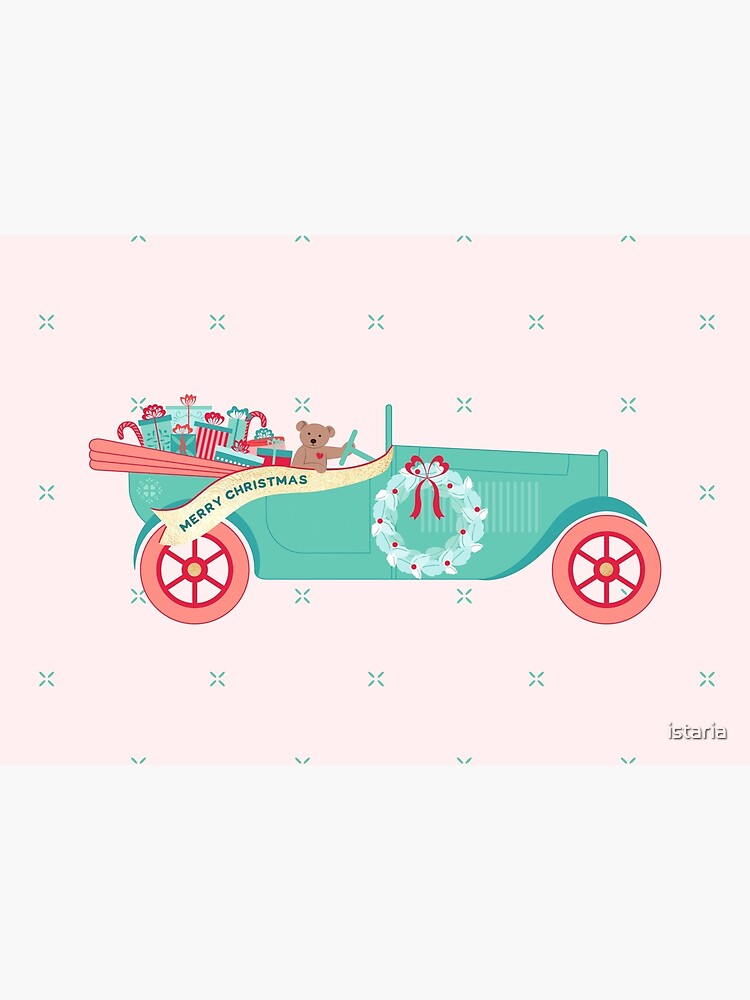 Christmas Teddy Car by istaria