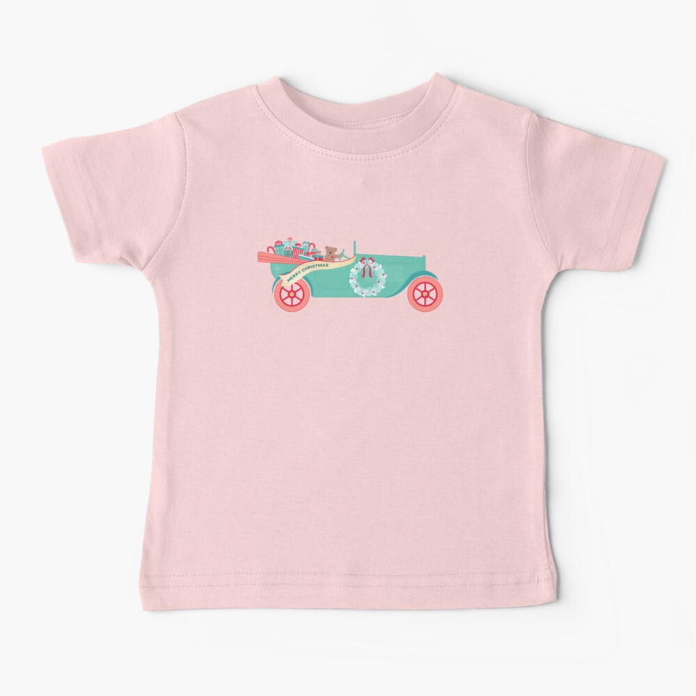 Christmas Teddy Car Baby T-Shirt