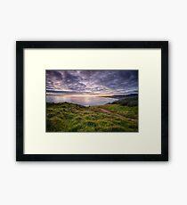 Muriwai Beach Sunset Framed Print