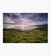 Muriwai Beach Sunset Photographic Print