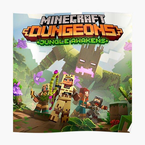 Minecraft Dungeons Poster A3 A4 A5 Satin Matt Gloss
