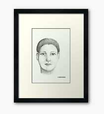 Woman - Pencil Portrait Framed Print