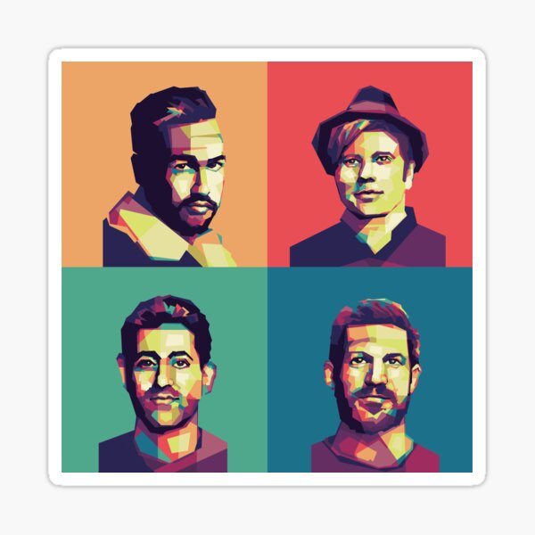 Fall Out Boy on WPAP  Sticker