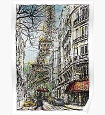 Paris 5 in colour Poster