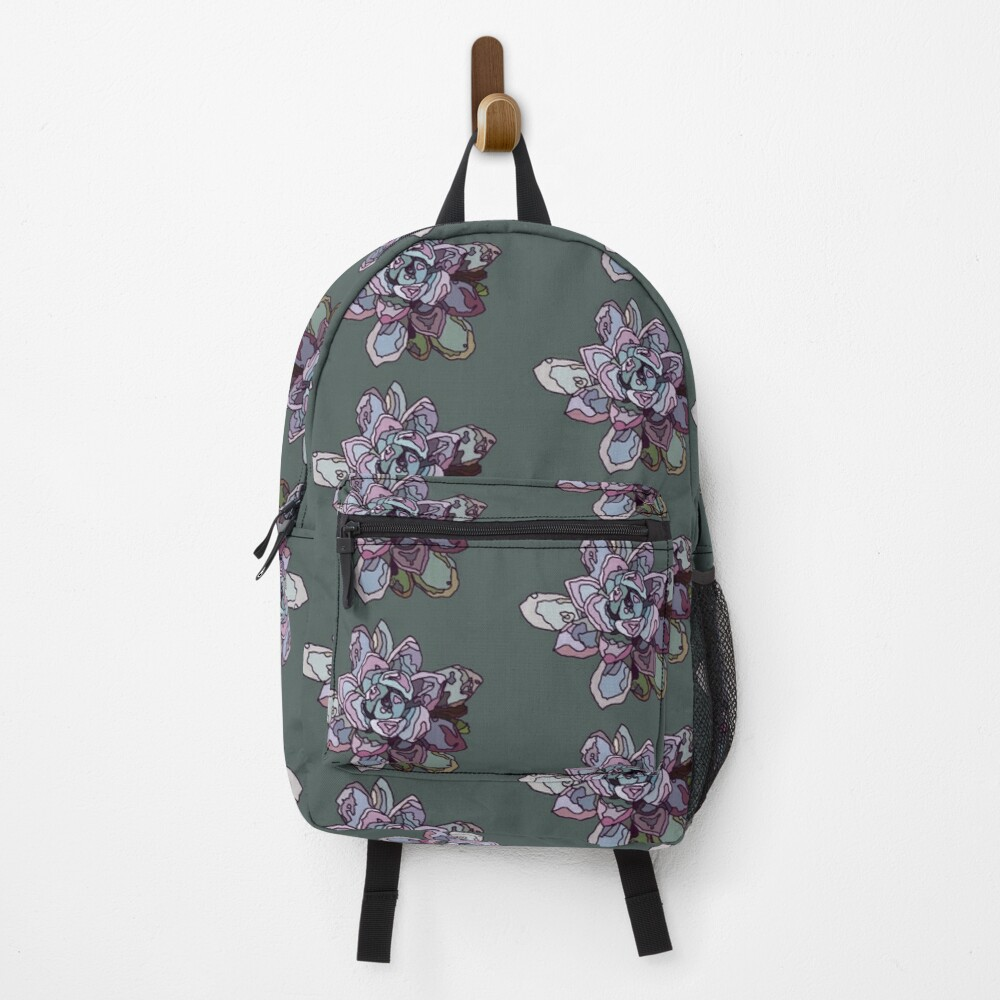Stained Glass Succulent Rosette Backpack