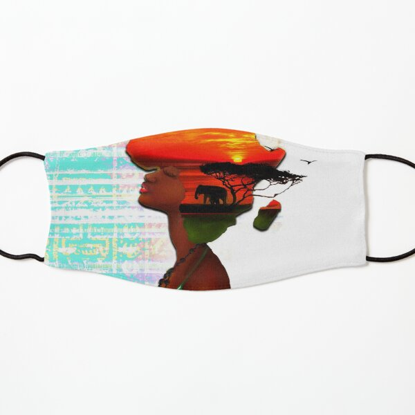 African Sunset Kids Mask