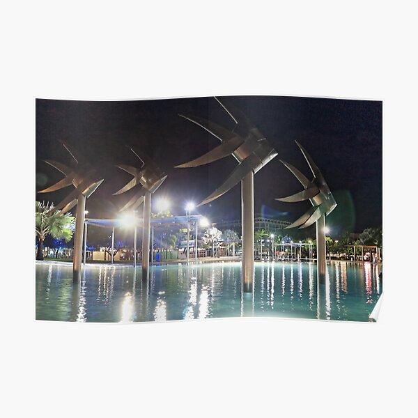 Cairns Esplanade Lagoon at Night Poster