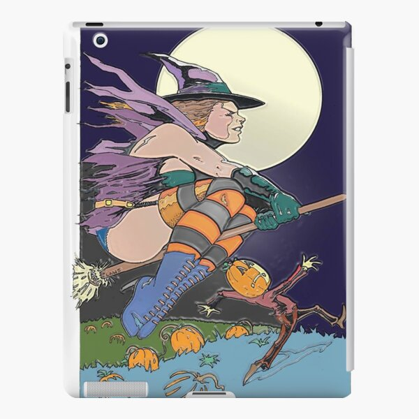 Witch Flying Across the Moon iPad Snap Case