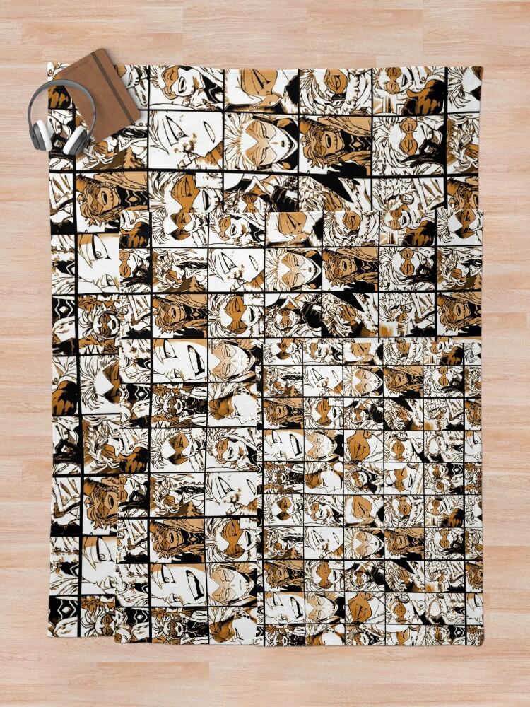 Alternate view of Hawks - manga color version Throw Blanket