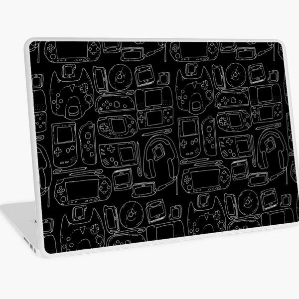Black Video Game Toys Laptop Skin