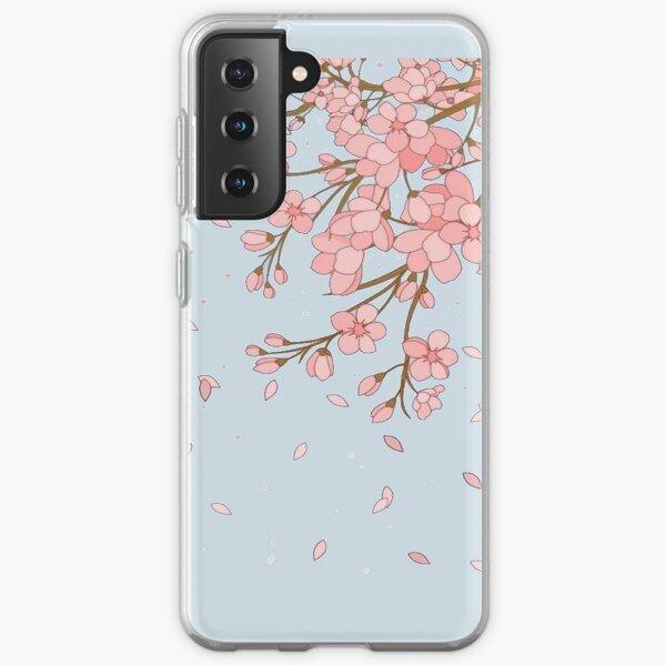 Imprimé rose fleur de cerisier japonais Coque souple Samsung Galaxy