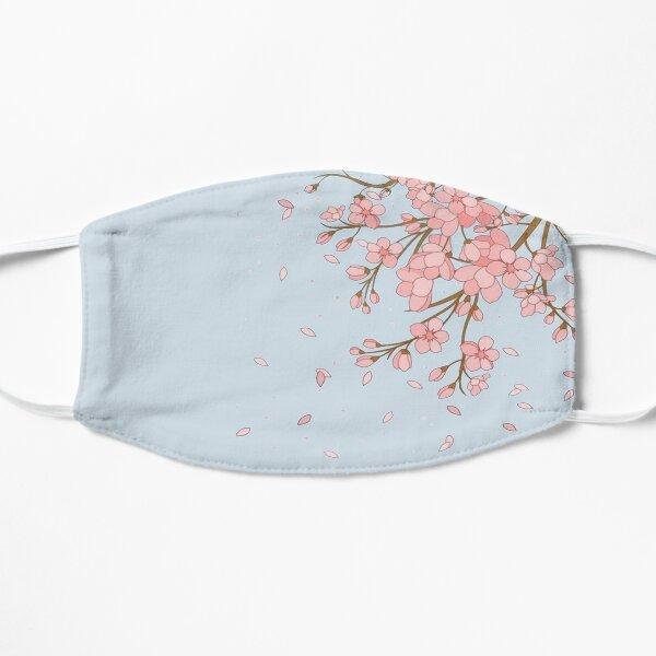 Japanese Cherry Blossom Pink Print  Flat Mask