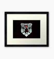Window Coat of Arms Framed Print