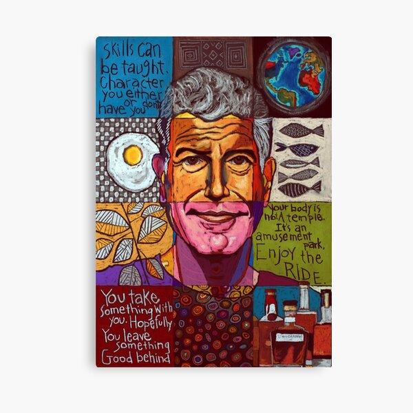 Anthony Bourdain Collage Canvas Print