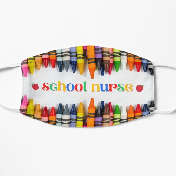 School Nurse Crayons Face Mask Mask
