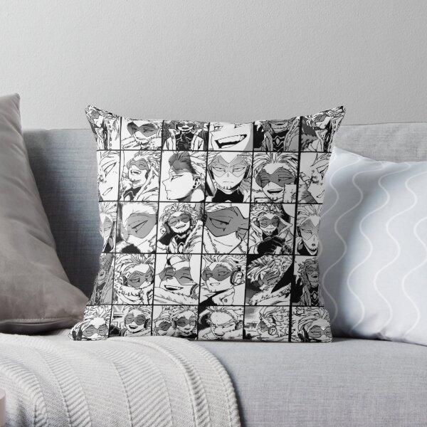 Hawks- manga black and white version Throw Pillow