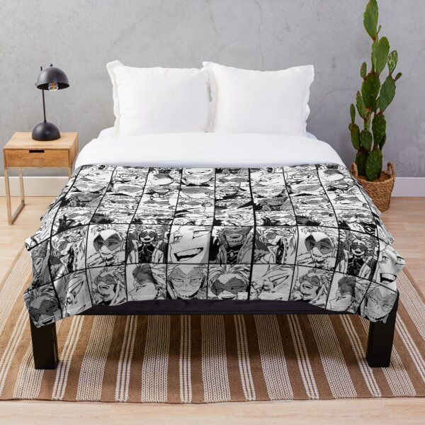 Hawks- manga black and white version Throw Blanket