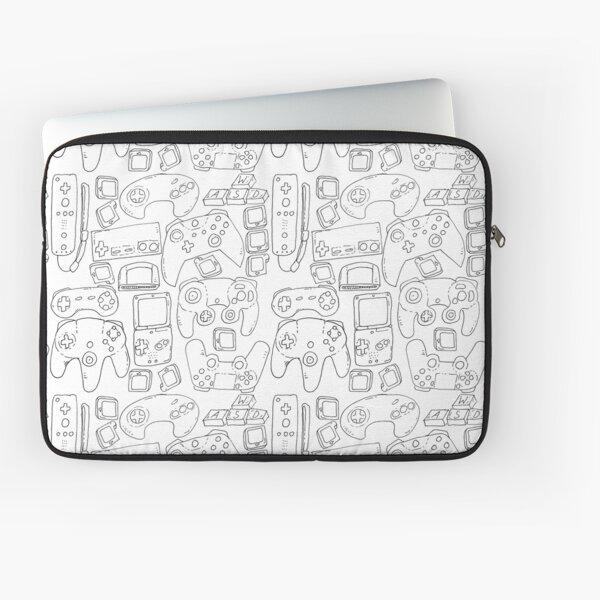 White Video Game Toys Laptop Sleeve