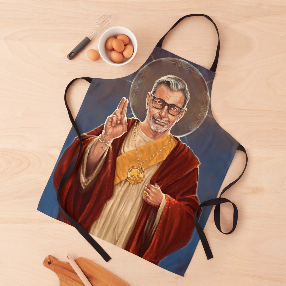 Saint Jeff of Goldblum - Jeff Goldblum Original Religious Painting Apron