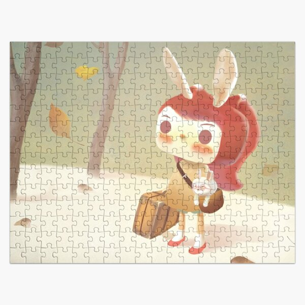 Little Girl with A Suitcase Lost in The Forest Jigsaw Puzzle