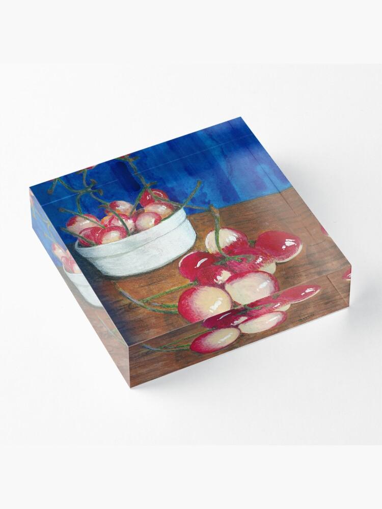 Alternate view of Cherries, Jubilant Acrylic Block