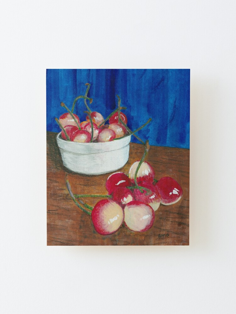 Alternate view of Cherries, Jubilant Mounted Print