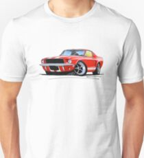 Ford Mustang (1967) Red (White Stripes) T-Shirt