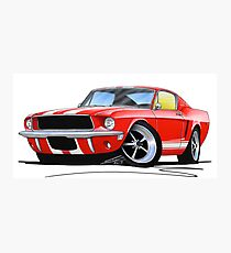 Ford Mustang (1967) Red (White Stripes) Photographic Print