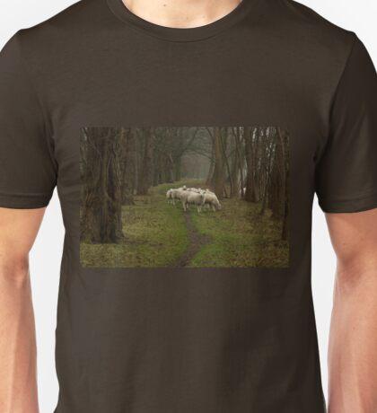 Sheep on the dike Unisex T-Shirt